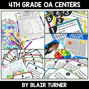 Operations and Algebraic Thinking Centers Bundle: 4th Grad