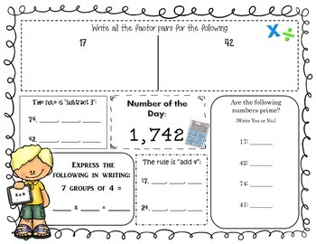 Operations and Algebraic Thinking Common Core Math Practice: Grades 3-5
