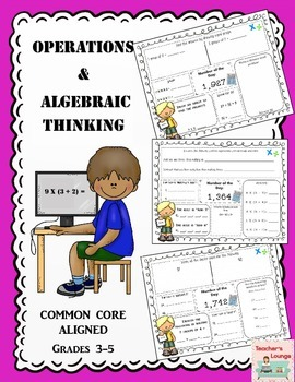 Operations and Algebraic Thinking Common Core Math Practic