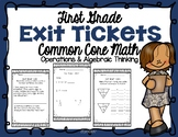 First Grade Operations and Algebraic Thinking Exit Tickets