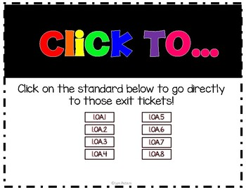 First Grade Math Exit Tickets Operations and Algebraic Thinking