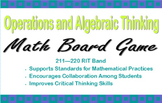Operations and Algebraic Thinking Game for RIT Band 211-220