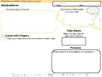 Operations and Algebraic Thinking K-4