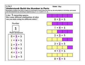 Operations and Algebraic Thinking K.OA