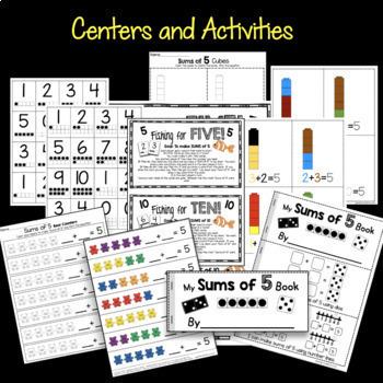 Operations and Algebraic Thinking - Kindergarten BUNDLE - Journals - Centers