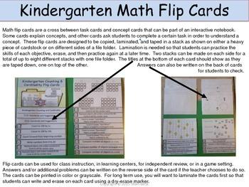 Operations and Algebraic Thinking Kindergarten Flip Cards (task cards)
