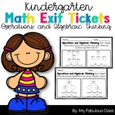 Operations and Algebraic Thinking Math Exit Tickets