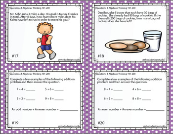 Operations & Algebraic Thinking Math Test Prep NWEA RIT Band 191-200
