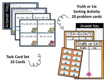 Operations and Algebraic Thinking Math Unit Grade 5 - CCSS Aligned