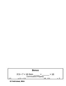 Operations and Algebraic Thinking Quiz