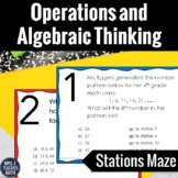 Operations and Algebraic Thinking Review Stations Maze  4.OA