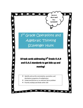 Operations and Algebraic Thinking Scavenger Hunt