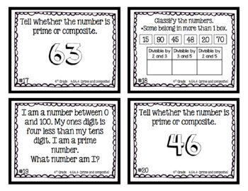 4th Grade | Math Task Card Bundle | All OA Common Core Standards (120 CARDS)