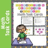 NWEA MAP Prep Math Practice Task Cards Operations Algebraic RIT Band 181-190