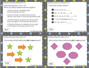 NWEA MAP Prep Math Practice Task Cards Operations Algebraic RIT Band 181-190