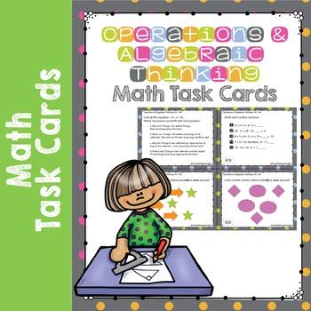 Operations and Algebraic Thinking Math Test Prep Task Card
