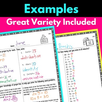 Third Grade Operations Algebraic Thinking Multiplication and Division Worksheets