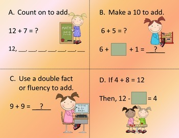 Operations and Algebraic Thinking Write the Room:  Add and Subtract Within 20