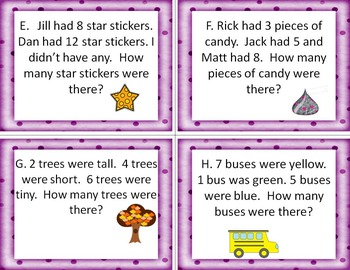(BUNDLE) Operations and Algebraic Thinking Write the Room Math Activities!
