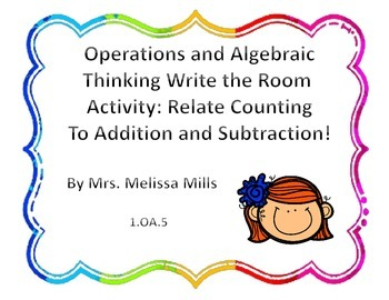 Operations and Algebraic Thinking Write the Room:  Relate Counting to + and -