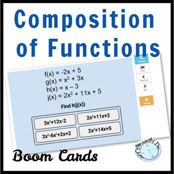 Operations and Composition of Functions Boom Cards