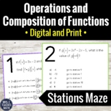 Operations and Compositions of Functions Stations Maze Activity