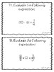 Operations and Expressions WITH Decimal Fractions 5.OA.1