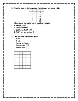 Operations and Geometry Quick Quiz