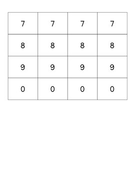 Operations and Number Cards for Math Games
