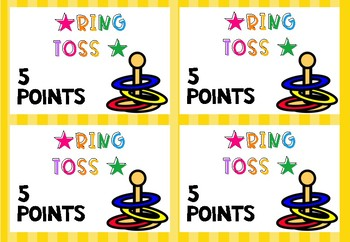 Operations and Problem Solving Using Fractions - Ring Toss Style Math Revision