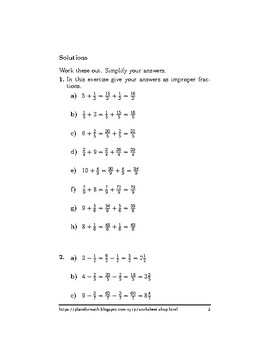 Operations between whole numbers and mixed numbers