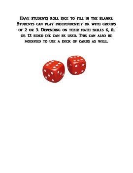 Operations dice game
