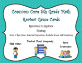Operations in Algebraic Thinking Game Cards