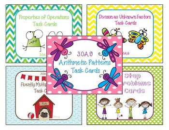 Operations in Algebraic Thinking Third Grade Task Cards Bundle 3.OA