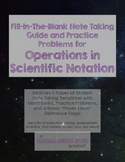 Operations in Scientific Notation Notes Outline and Practice