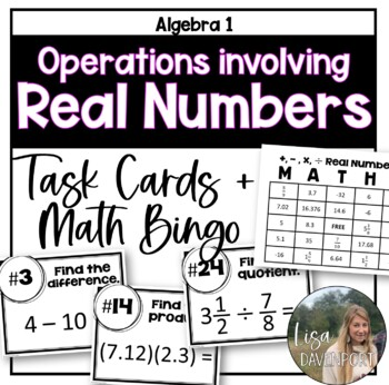Operations involving Real Numbers (Task Cards & MATHO)