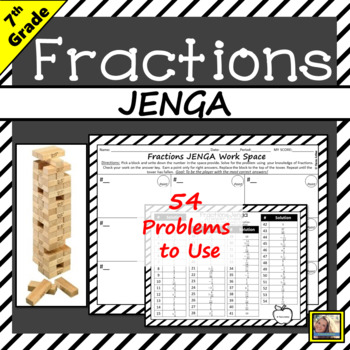 Operations of Fractions JENGA