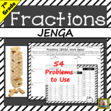 Fractions Game JENGA