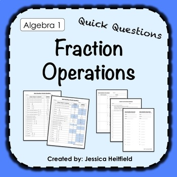 Fraction Operations Activity: Fix Common Mistakes!