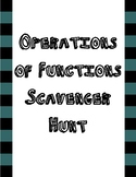 Operations of Functions Scavenger Hunt