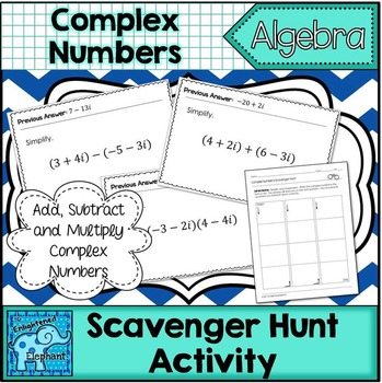 Operations on Complex Numbers Scavenger Hunt Activity