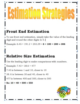 Operations on Decimals: What's For Dinner? Math Project Grades 6-8