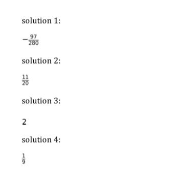Operations on Fraction (20 Questions)