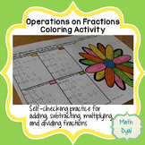 Operations on Fractions Coloring Activity