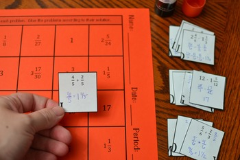 Operations on Fractions Hidden Message Activity