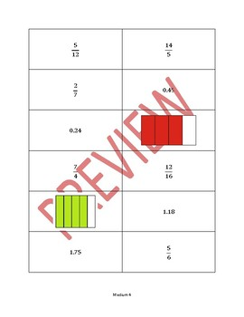 Operations on Fractions and Decimals Card Game (Differentiated)
