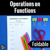 Operations on Functions Foldable