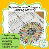 Operations on Integers Coloring Activity