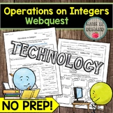Operations on Integers Webquest MATH DISTANCE LEARNING