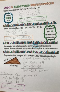 Operations on Polynomials Interactive Notes